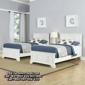 Dipan Tempat Tidur Anak Minimalis Putih