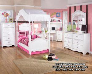 Set Tempat Tidur Anak Minimalis Ukir Jepara