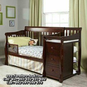 Tempat Tidur Bayi Kayu Minimalis Laci