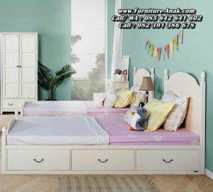 Dipan Tempat Tidur Minimalis Anak Laci