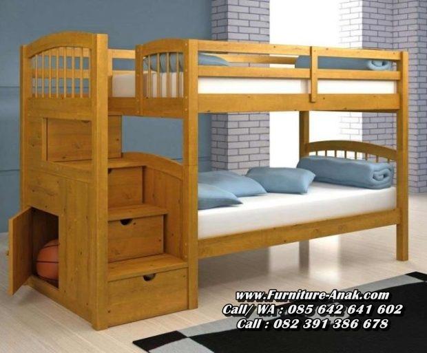 Jual Tempat Tidur Anak Tingkat Kayu Jati