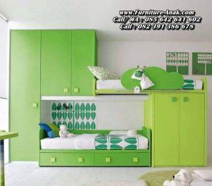 Dipan Anak Minimalis Set Kamar Tidur Warna Hijau