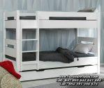 Tempat Tidur Tingkat Kayu Warna Putih