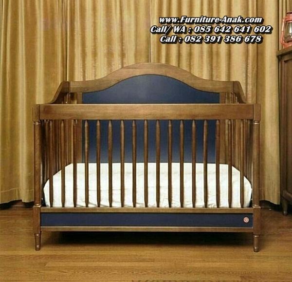 Tempat Tidur Bayi Kayu Jati Minimalis