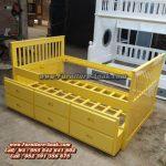 Model Tempat Tidur Anak Sorong Double Bed