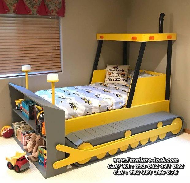 Tempat Tidur Anak Karakter Model Bulldozer
