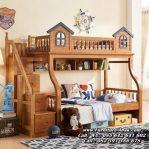 Tempat Tidur Tingkat Kayu Jati Model Rumah