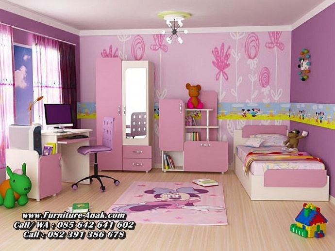 Set Kamar Anak Perempuan Minimalis Jepara