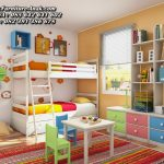 Set Kamar Tempat Tidur Anak Tingkat Minimalis