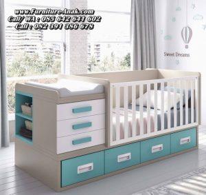 Set Tempat Tidur Bayi Minimalis Kayu