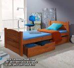 Tempat Tidur Anak Kayu Minimalis Sederhana