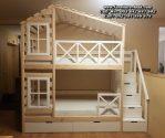 Tempat Tidur Tingkat Kayu Desain Atap Rumah